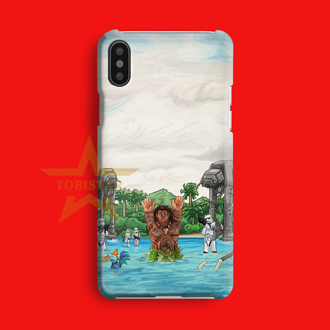 disney moana star wars maui iPhone X Case