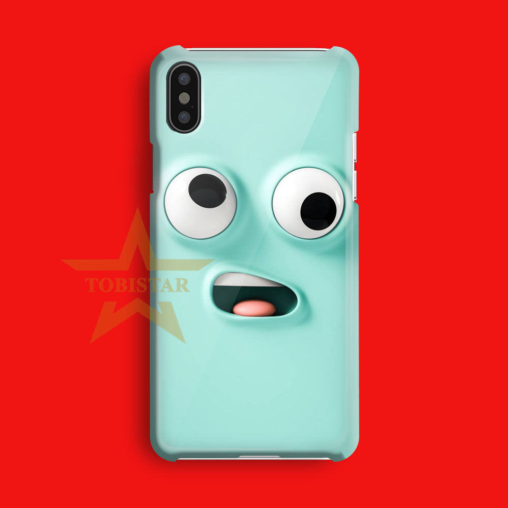 funny silly face iPhone X Case