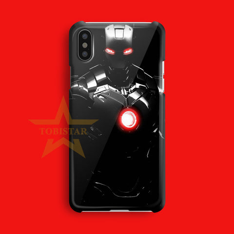 iron man the light eyes iPhone X Case
