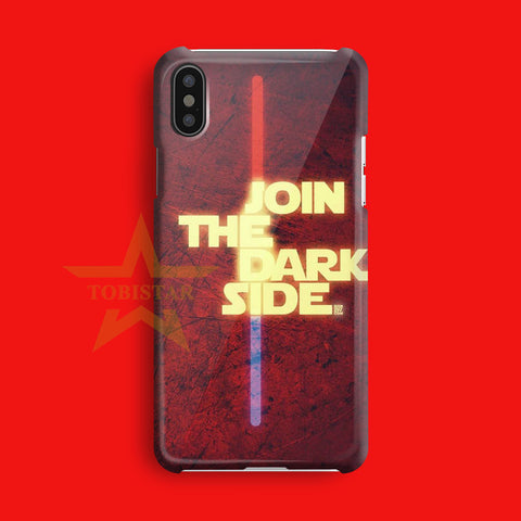 join the dark side star wars iPhone X Case