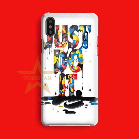 just do it painting art iPhone X Case