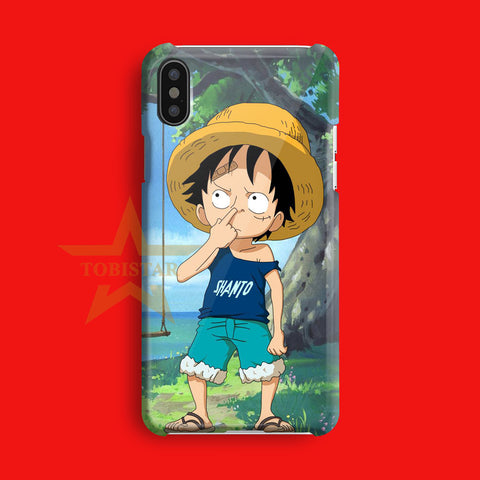 monkey the luffy kids one piece iPhone X Case