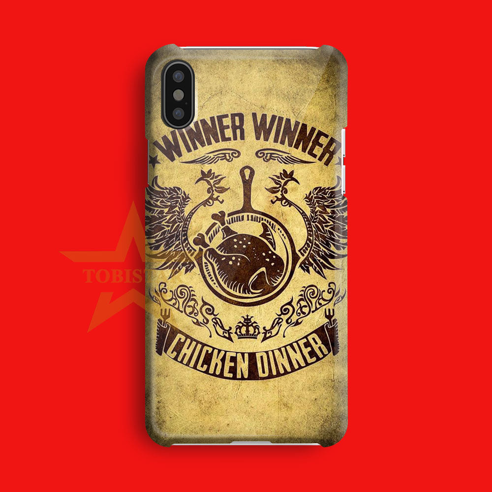 pubg chiken dinner iPhone X Case