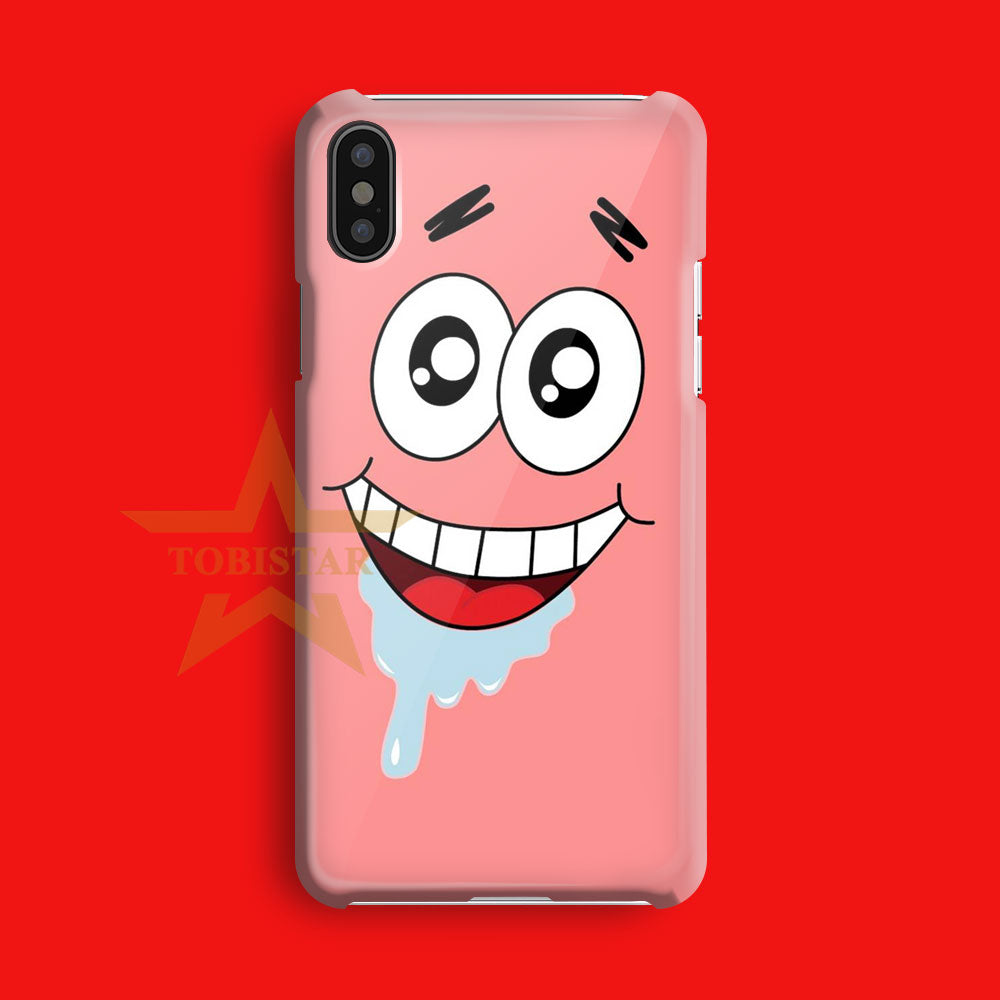 spongsbob squarpants face patric iPhone X Case