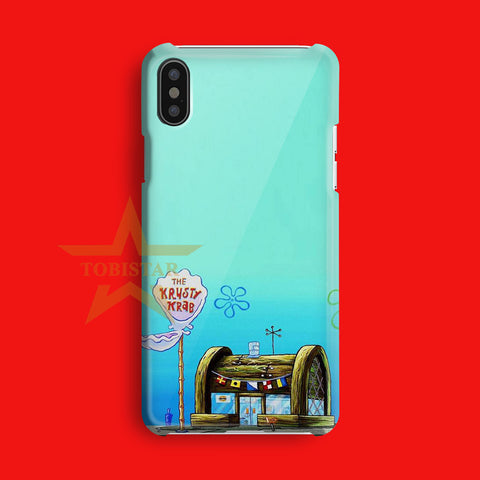 sponsbob squar pants krusty krab resto iPhone X Case