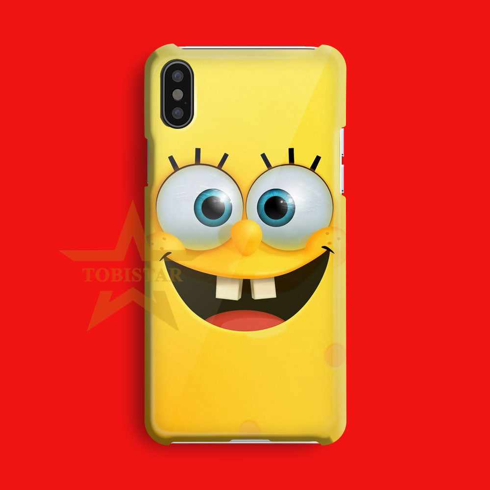 sponsbob squarpants face smile iPhone X Case