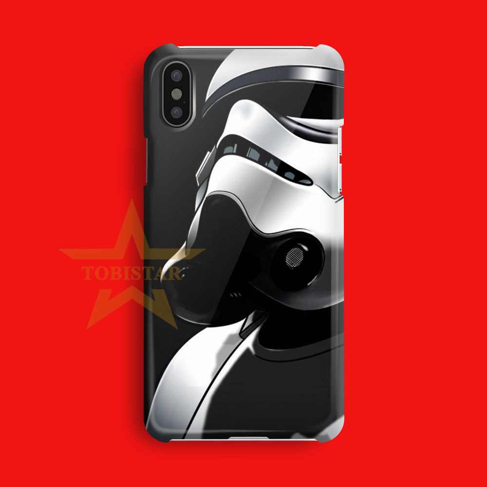 strom tropper helmet star wars iPhone X Case