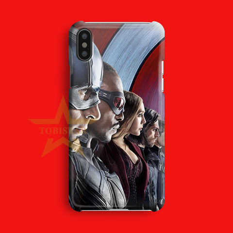 the avenger civil war team captain america roger iPhone X Case
