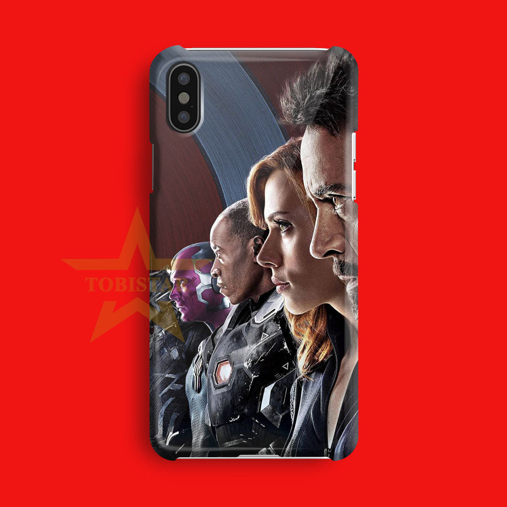 the avenger civil war team iron man iPhone X Case