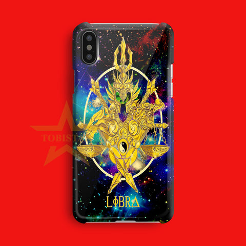 zodiack libra god cloth saint seiya iPhone X Case