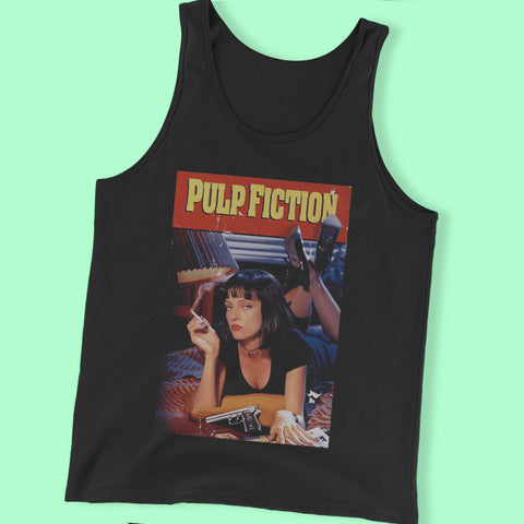 Pulp Fiction Uma Thurman Poster Men'S Tank Top