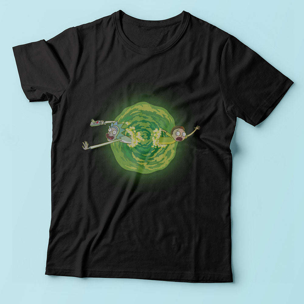 Ricky And Morty Green Experiment Men'S T Shirt