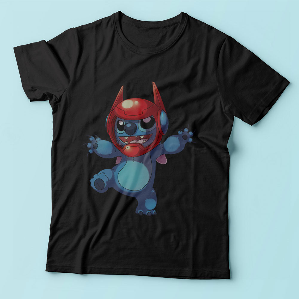 Stitch With A Baymax Helmet Men'S T Shirt