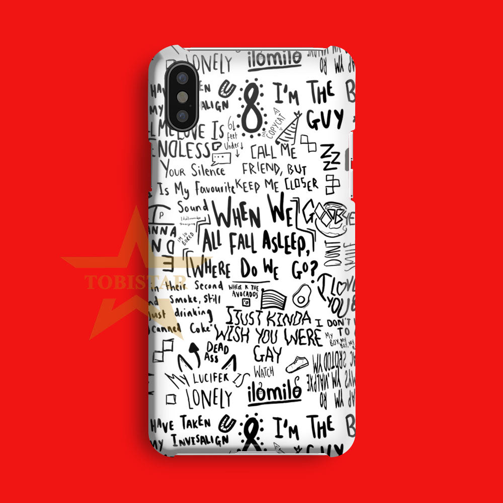 Billie Eilish The Bad Guy Quote iPhone X Case