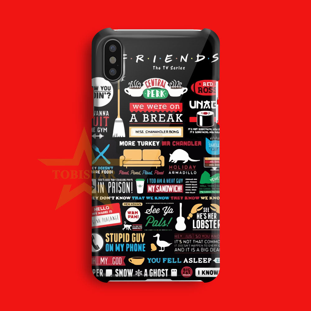Friends Tv Series Poster iPhone X Case