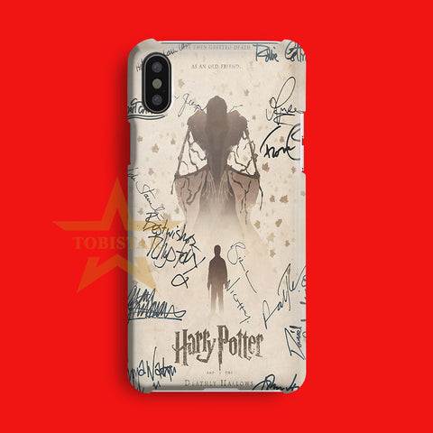Harry Potter And The Deathly Hallows Signature iPhone X Case