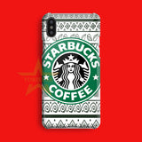 Starbuck Coffee Tribal Logo Art iPhone X Case
