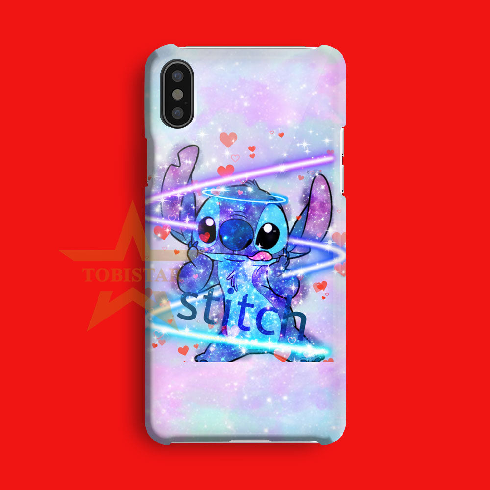 Stitch Cute Face Style Colorfull iPhone X Case