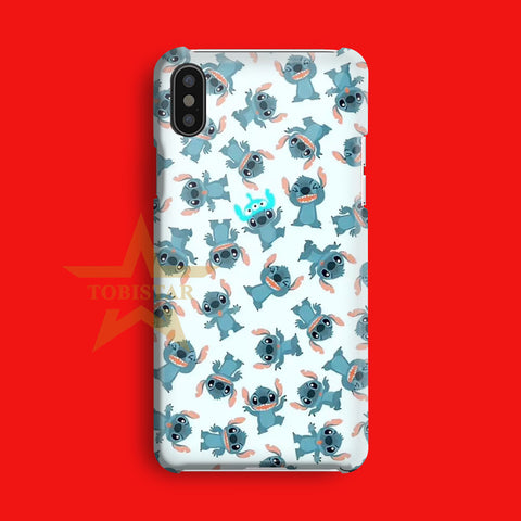 Stitch Funny Face Style Art iPhone X Case