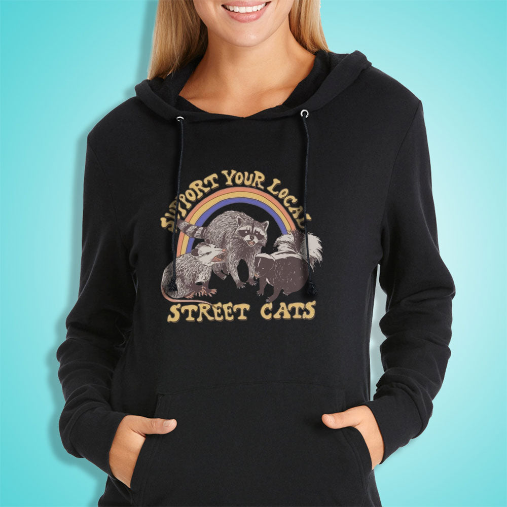 Support Your Local Street Cats Women'S Hoodie