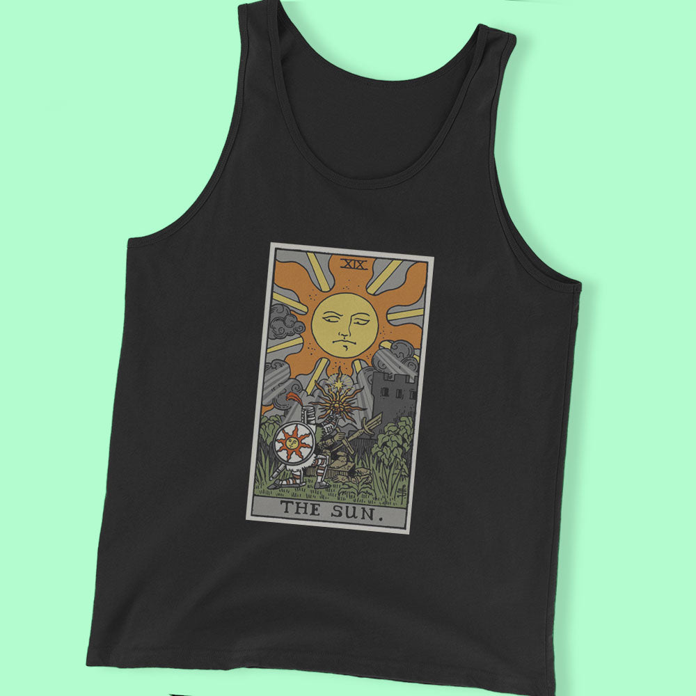 The Sun  By Meat Bun  Solaire Tarot Card Men'S T Shirt