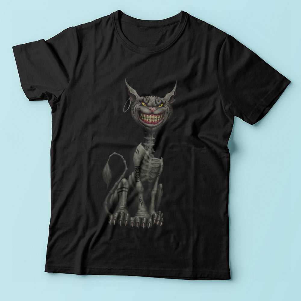 Were All Made Here Alice In Wonderland Cat Zombie Men'S T Shirt
