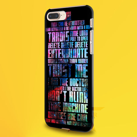 Word art tardis quote doctor who in galaxy 2   iPhone 11 Case