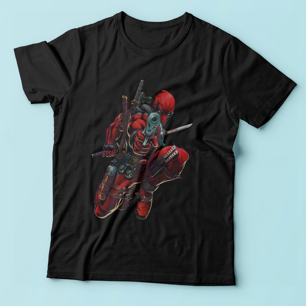 Deadpool New Jump In The Air Gun Men'S T Shirt