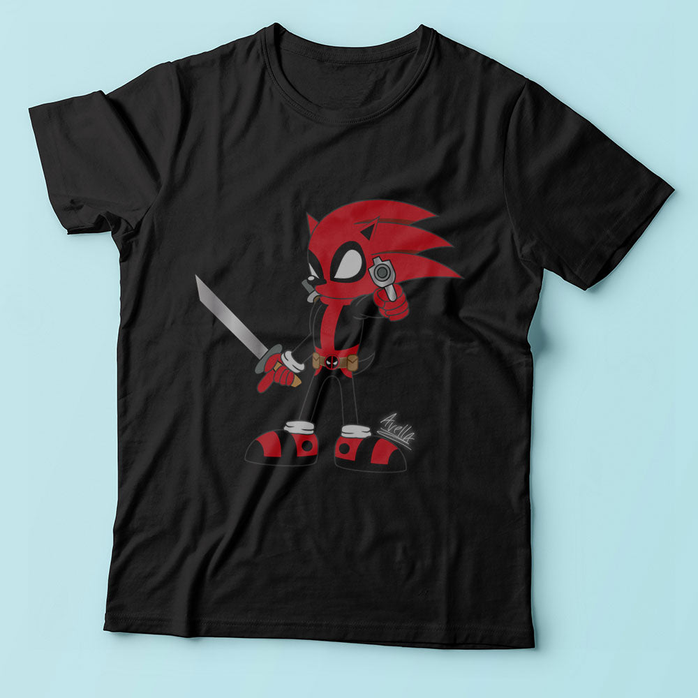 Deadpool Sonic Men'S T Shirt