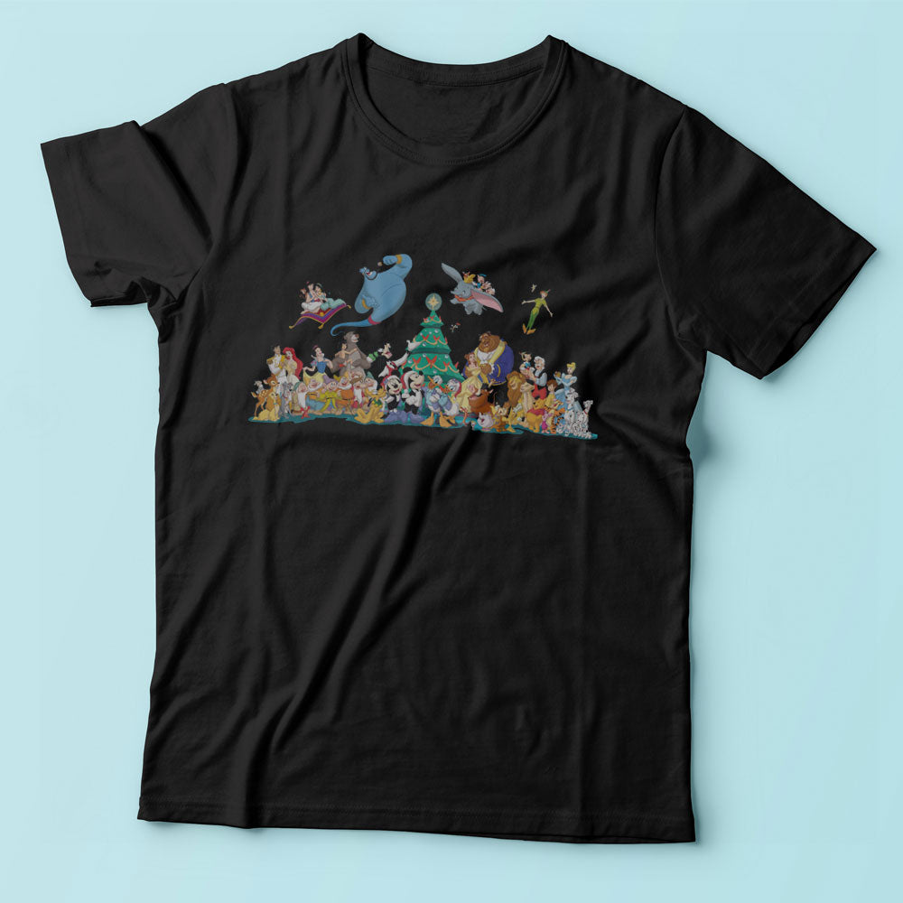 Disney Christmas And All Friends Men'S T Shirt