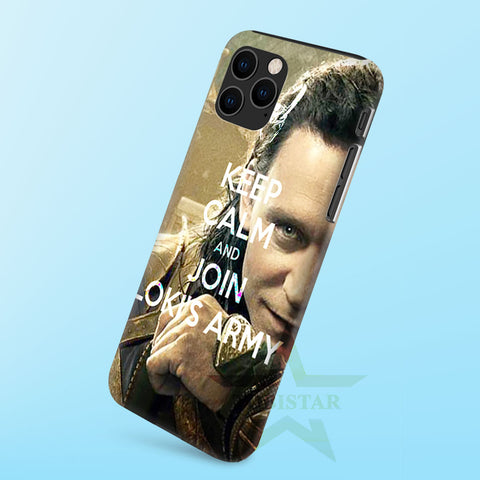 loki, keep calm and join loki's army   iPhone 11 Case