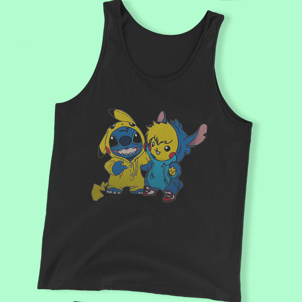 Pikachu And Stitch Men'S T Shirt