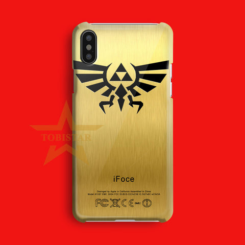 Zelda TRIFORCE Golden texture   iPhone X Case