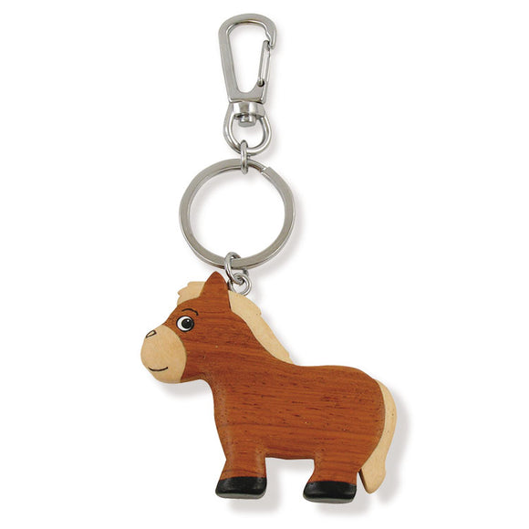 Wooden Horse Key Chain