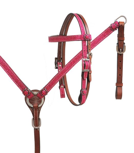 Pony Glitter Browband Headstall Set