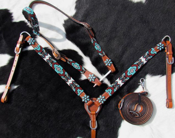 Beaded Aztec Tack Set