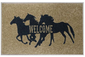 27'' x 18'' Welcome Mat Running horses