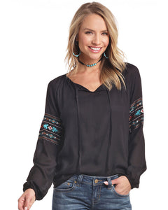 Panhandle Women's Textured Peasant Top