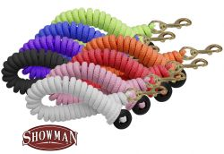 Showman 25' soft pro braided cotton lunge line with brass snap