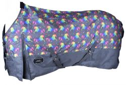 Showman ® Unicorn Print 1200D Waterproof and Turnable Turnout Sheet.