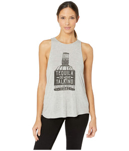 Rock and Roll Cowgirl Graphic Tank Top-GRAY