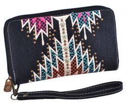 Black Aztec Wallet