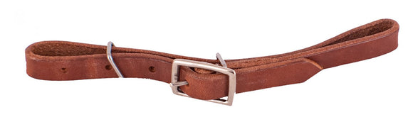 Showman Harness Leather Fully Adjustable Leather Curb Strap