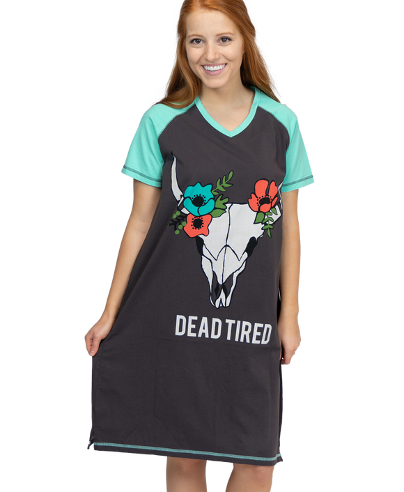 Dead Tired | Women's V-Neck Nightshirt