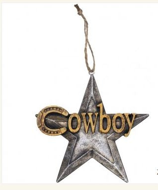 Ornament Cowboy Star