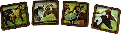 Horse- 4 PC Coaster Set