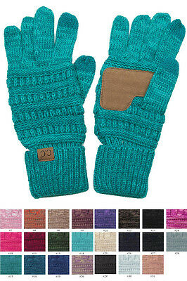 C.C Knitted Touch Screen Gloves