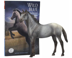 WILD BLUE BOOK AND HORSE