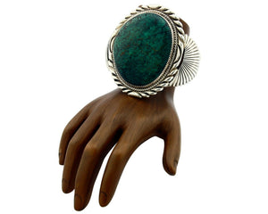 Women's Huge Turquoise Bracelet .925 Silver Handmade Stover Paul Cuff C.80's