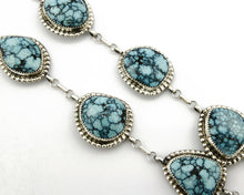 Women's Navajo Turquoise Necklace Signed JR .925 Silver Handmade